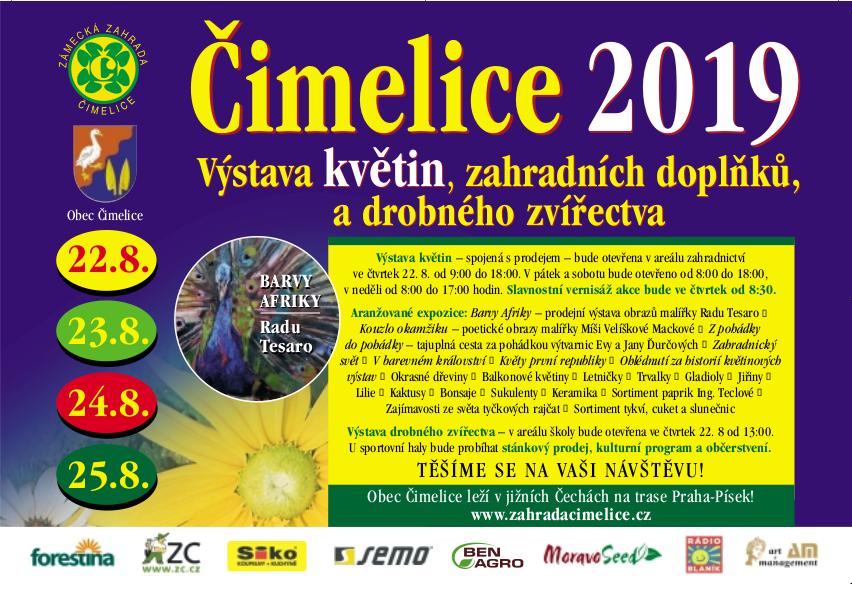 Leták výstavy květin Čimelice 2019